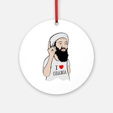 Osama Love Obama Ornament (Round)