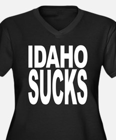 Idaho Sucks Women's Plus Size V-Neck Dark T-Shirt