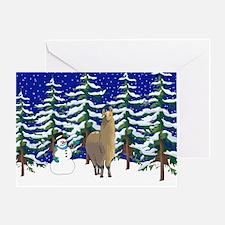 Winter Alpaca Greeting Card