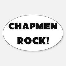 Chapmen ROCK Oval Decal