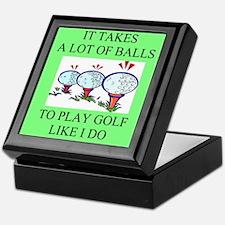 golf humor on gifts and -shir Keepsake Box