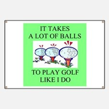 golf humor on gifts and -shir Banner