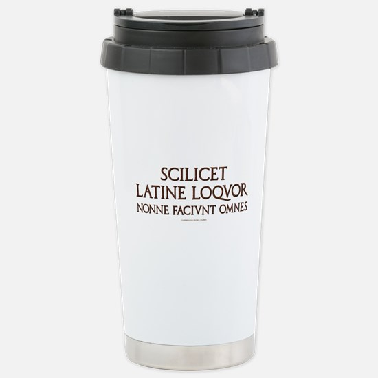 I Speak Latin Stainless Steel Travel Mug