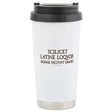 I Speak Latin Travel Mug