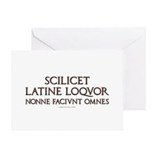 I Speak Latin Greeting Card