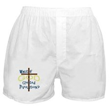 What if God Created Evolution? Boxer Shorts