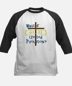 What if God Created Evolution? Kids Baseball Jerse