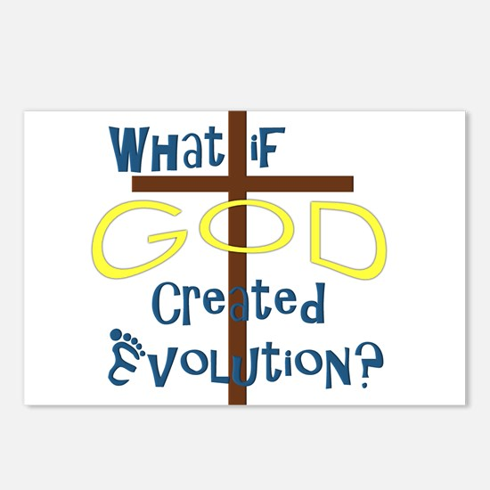What if God Created Evolution? Postcards (Package