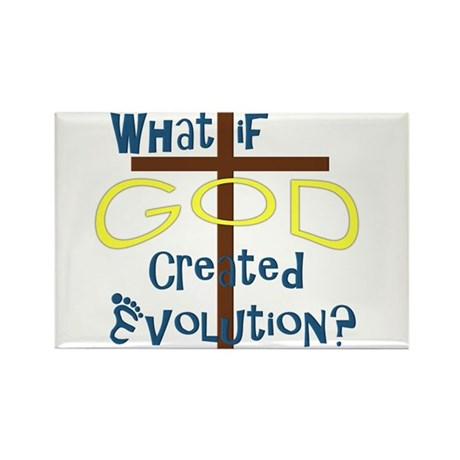 What if God Created Evolution? Rectangle Magnet