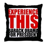 Experience This Obama Throw Pillow