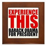 Experience This Obama Framed Tile
