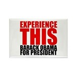 Experience This Obama Rectangle Magnet