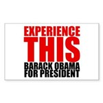 Experience This Obama Rectangle Sticker