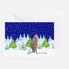 Christmas Lights Alpaca Greeting Cards (Pk of 10)