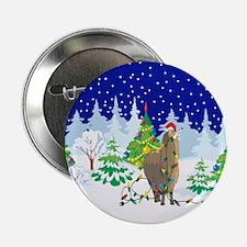 "Christmas Lights Alpaca 2.25"" Button"