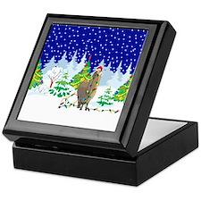 Christmas Lights Alpaca Keepsake Box