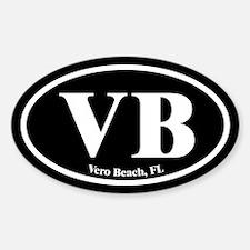 Vero Beach VB Euro Oval Oval Decal