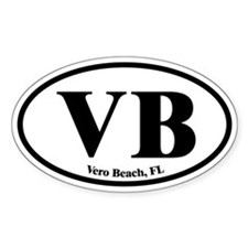 Vero Beach VB Euro Oval Oval Decal