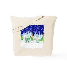 Christmas Lights Goat Tote Bag