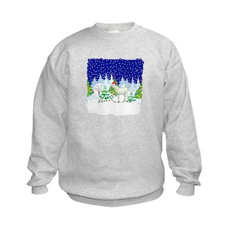Christmas Lights Goat Kids Sweatshirt