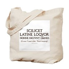 I Speak Latin Tote Bag
