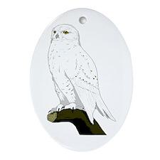 Snow Owl Oval Ornament