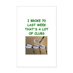 golf humor on gifts and t-shi Posters