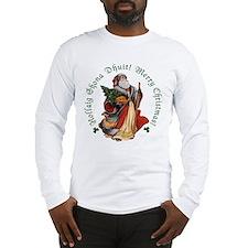 Santa (Irish Gaelic & English) Long Sleeve T-Shirt