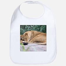 Sleepy Lioness Bib