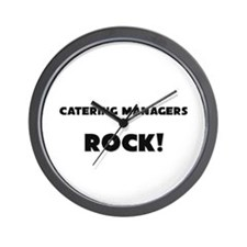 Catering Managers ROCK Wall Clock