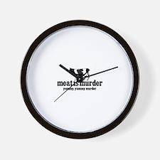 """""""Meat is Murder...Yummy, Yummy Murder"""" Wall Clock"""