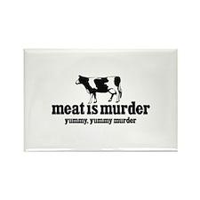 """Meat is Murder...Yummy, Yummy Murder"" Rectangle M"