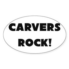 Carvers ROCK Oval Decal