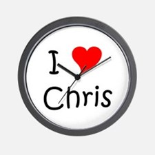 I heart chris Wall Clock