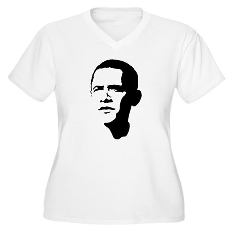 Obama Women's Plus Size V-Neck T-Shirt