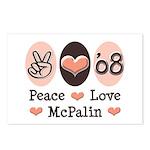 Peace Love McPalin Postcards (Package of 8)