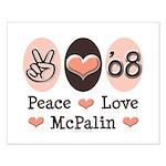 Peace Love McPalin Small Poster