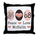 Peace Love McPalin Throw Pillow