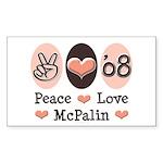 Peace Love McPalin Rectangle Sticker