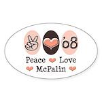 Peace Love McPalin Oval Sticker
