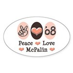 Peace Love McPalin Oval Sticker (10 pk)