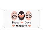 Peace Love McPalin Banner
