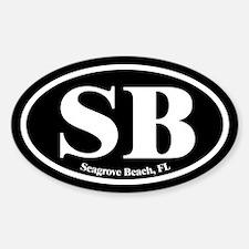 Seagrove Beach SB Euro Oval Oval Decal