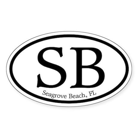 Seagrove Beach SB Euro Oval Oval Sticker