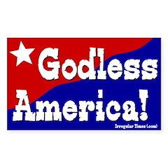 Godless America Bumper Decal