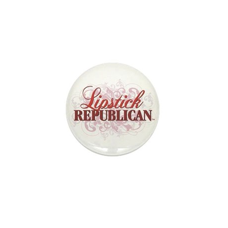Lipstick Republican Mini Button