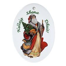 Santa (Irish Gaelic) Christmas Ornament