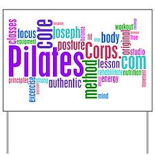Pilates Corps Logo Yard Sign