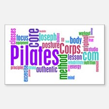 Pilates Corps Logo Rectangle Decal