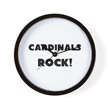 Cardinals ROCK Wall Clock